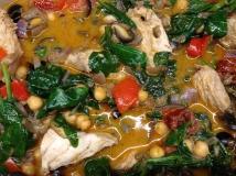 Moroccan casserole close up