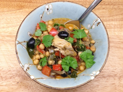 Moroccan casserole with chicken & aubergine