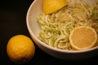 Lemon marrow spaghetti