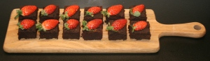 choc brownies on board long