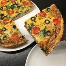 Black Olive & Chorizo Tart